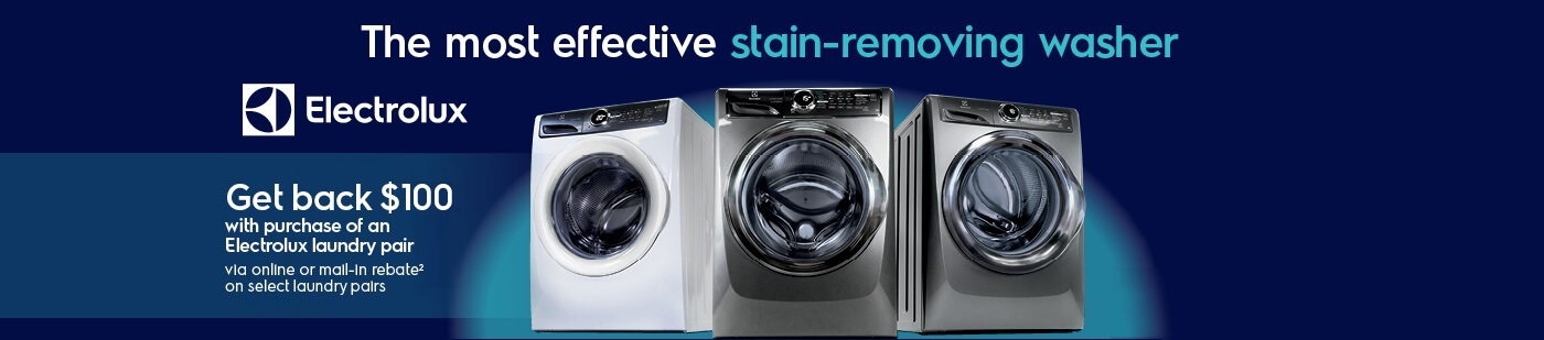 Get a clean like never before with Electrolux laundry!